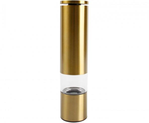 1x Salzmühle Pfeffermühle Gold Space H21,5 cm