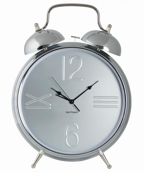 Uhr mit Alarmfunktion 36cm silber Zone
