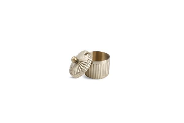 Brass Dose mit Deckel und Schlitz 5xH4 cm
