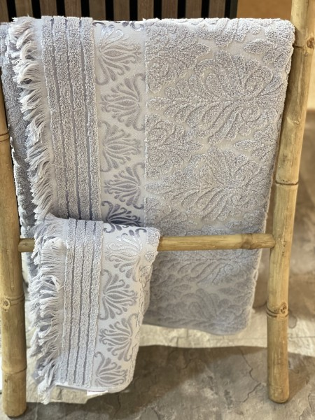 Nurpark Duschtuch 100% Baumwolle grau 90x 150 cm