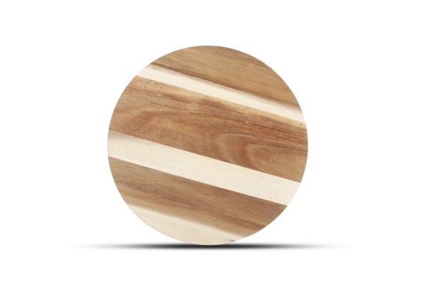Servierbrett rund 26cm Holz