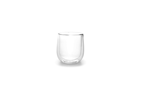 Doppelwandig Tasse Glas 2er Set 0,25L Espresso Mokka Becher