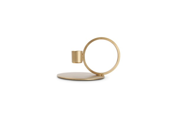 S&P Kerzenhalter gold 10xH9cm