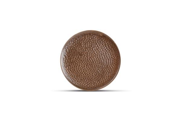 Brass Teller Desserteller 15,5 cm braun Kupfer Porzellan