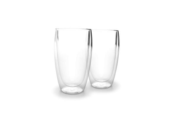 Doppelwandig Glas 2er Set Latte Machiatto Becher 0,44L Vienna