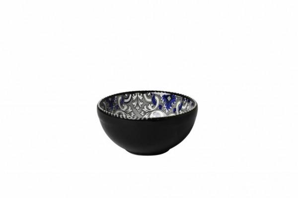 Marrakesch Black Schälchen 11x H5,5 cm schwarz blau
