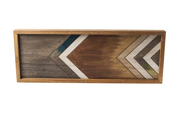 Holz Tablett rechteckig 50x19 cm Jungle