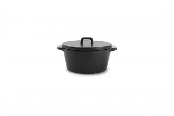 Ofenschale mit Deckel schwarz Ardo Black 15/10 x H 5,5