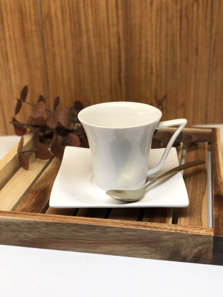 Vichy Kaffeetassen 6er Set 12 tlg. Porzellan