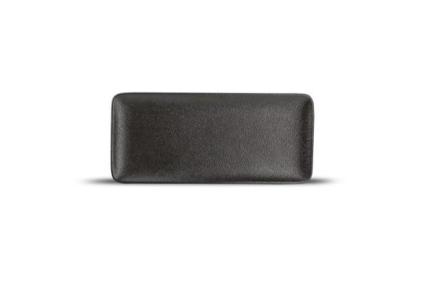 Platte Black Dussg 22x10 cm schwarz rechteckig