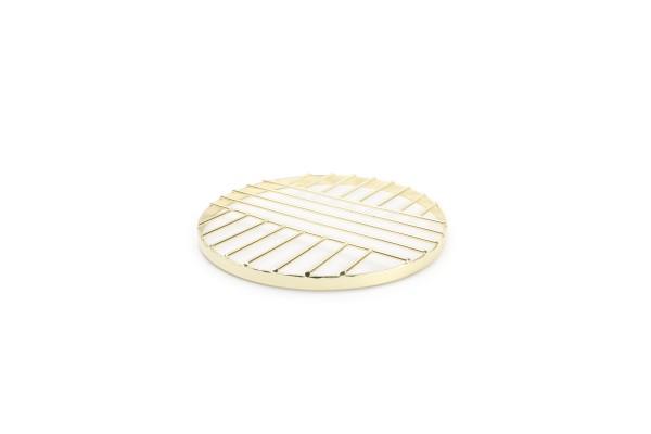 Untersetzer gold Metall 20 cm Mazy