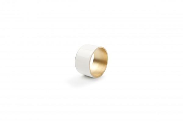 Serviettenringe weiss gold 4er Set 5cm