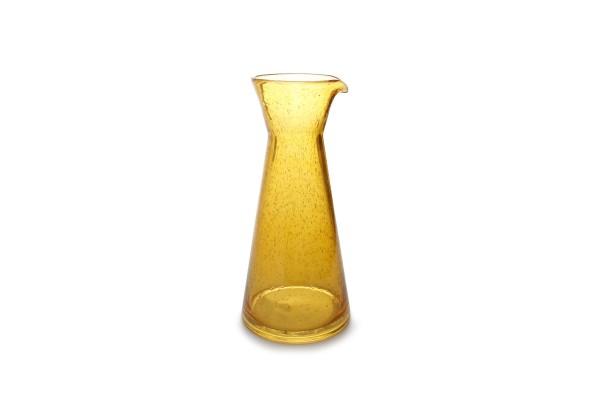 Glas Karaffe smoked Drip senfgelb 99cl