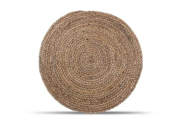 Platzset 38 cm rund Maisblatt braun