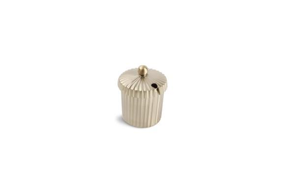 Brass Dose mit Deckel und Schlitz 5xH5,5cm