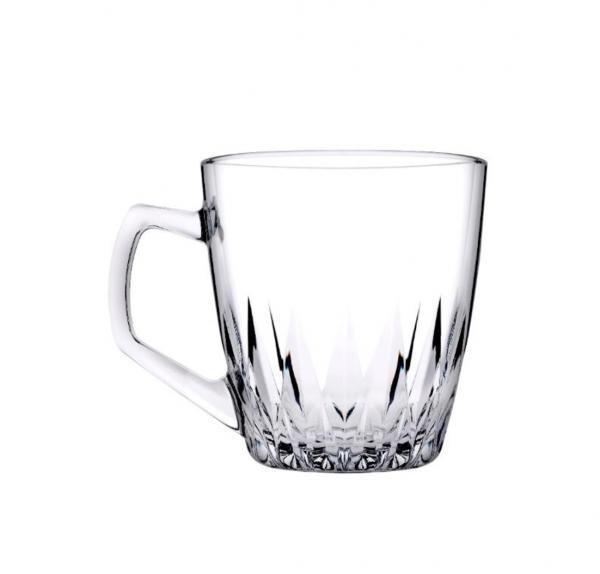 Pasabahce Safir 2er Teegläser Kaffeegläser mit Henkel