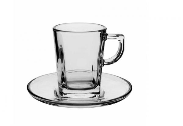 Pasabahce 6er Mokkatassen aus Glas carre