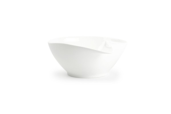 Porzellan Schüssel mit Griff Salatschüssel