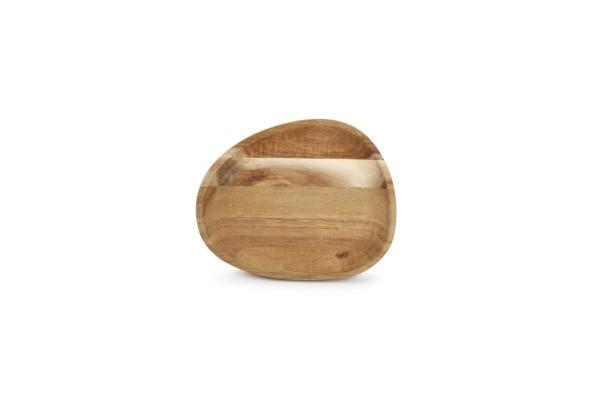 Servierbrett Holz 16x13xH2cm Akazienholz oval Palla