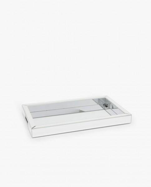 Tablett verspiegelt 40x 25 cm Spiegeltablett