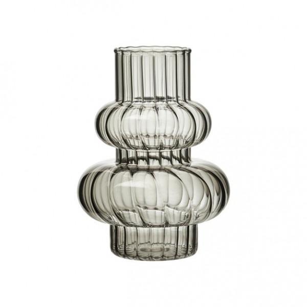 Glas Vase Carco Grau 10,5x H 15 cm