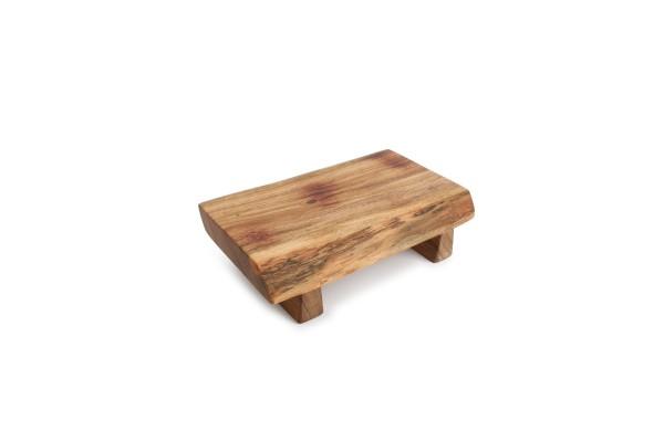 Servierbrett auf Fuß 28x17xH7,5 cm Akazienholz Choop