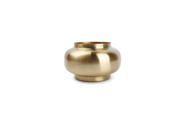Gala Vase gold rund 16xH12 cm