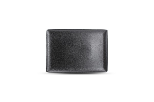 Black dusk Teller flach rechteckig 28x20 cm