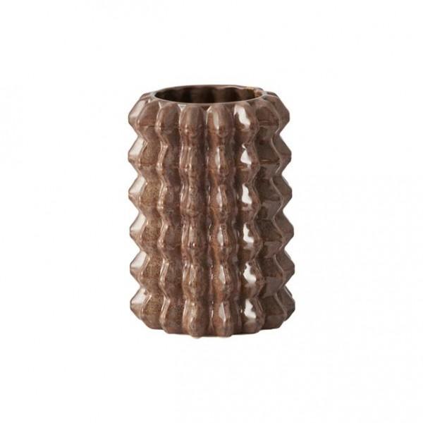 Alf Übertopf braun Blumentopf D14 x H 20 cm Keramik
