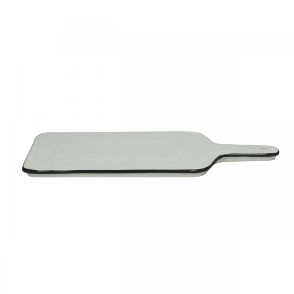 Porzellan Servierplatte Schwarz weiss Basil