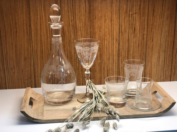 Gläser Set mit Gravur 36 teilig