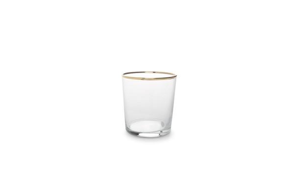 Elegante Dessertgläser Set 6 er mit Goldrand 0,33l Trink Glas
