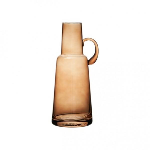 Vase mit Henkel Braun aus Glas 11,5 x10 x H 24 cm