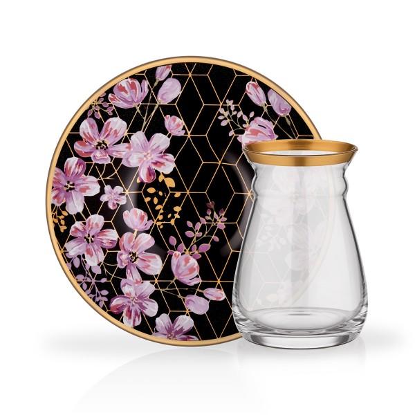 Design Teegläser Set Purple Gold