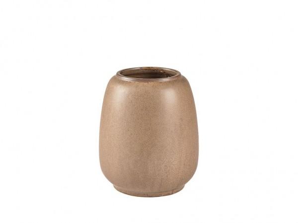 Vase braun Steinzeug 16x18,5 cm