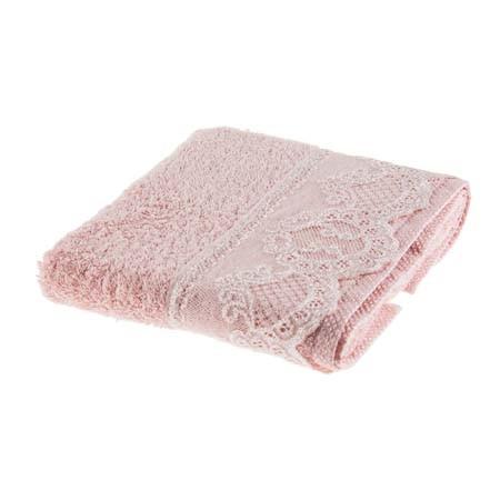 Tac Lace Handtuch mit Spitze 50x90 cm rosa