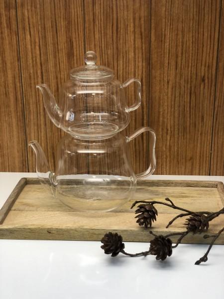 Glaskanne Teekanne aus Borosilikatglas