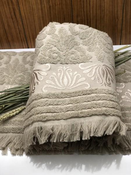 Nurpark Handtuch 100% Baumwolle taupe