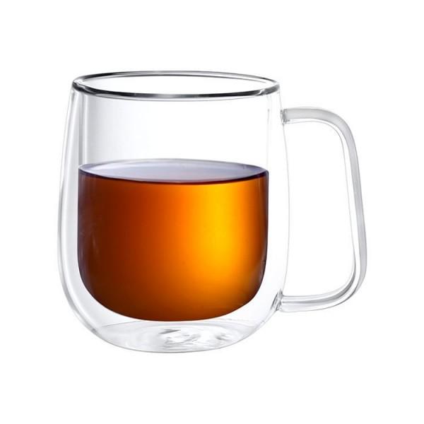 2er Gläser mit Henkel doppelwandig