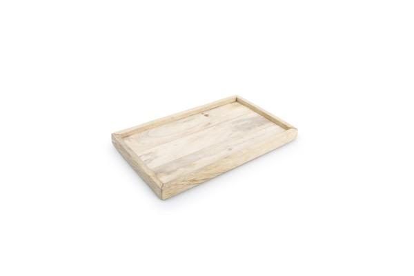 Holz Tablett mit Rand rechteckig 25x15xH2 cm