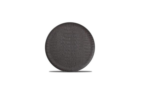 Croco Teller flach 21 cm schwarz black