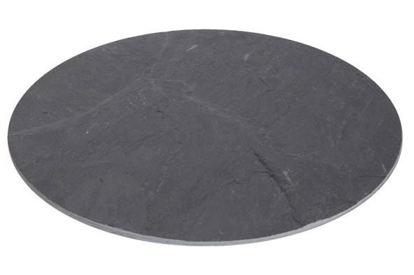 Schieferplatte rund 30 cm Servierplatte